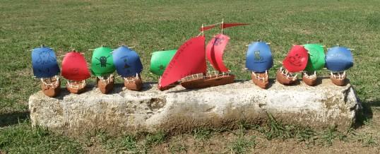 Costruzione di barchette in legno e gara nel torrente